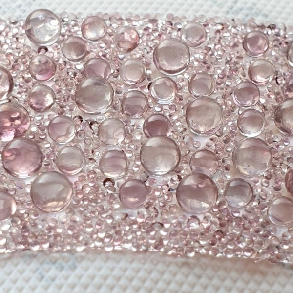 89803 Crystal Galuchat 72x28mm Transparent/Crystal Antique Pink (010/001 ANTP) (x1)