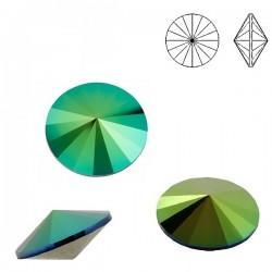 SWAROVSKI Rivoli 14mm Crystal Scarabaeus Green F (x1)