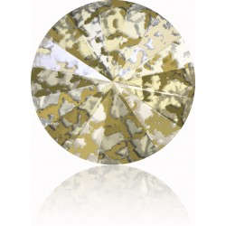 SWAROVSKI Rivoli 14mm Crystal Gold Patina F (x1)