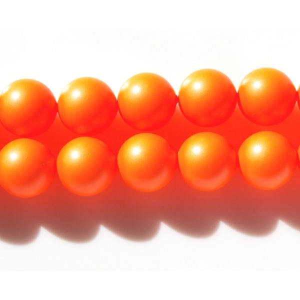 Crystal Neon Orange Pearl 12mm  (001 733) (x1)