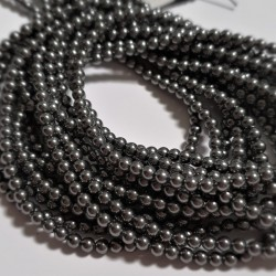 Crystal (001) Dark Grey (617) Pearl 2mm (x50)