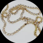 Swarovski 27004 Cupchain 1088 XIRIUS Chaton PP18 (2.4mm) Crystal - gold plated (8cm)