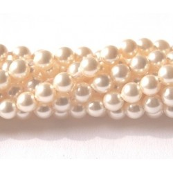 Crystal Creamrose Light Pearl 6mm (001 618) (x10)