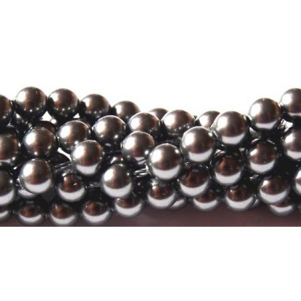 Crystal Dark Grey Pearl 5mm (001 617) (x10)