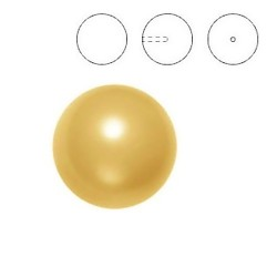 Half Drilled Crystal Gold Pearl 8mm (001 296) (x1)