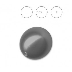 Half Drilled Crystal Black Pearl 8mm (001 298) (x1)