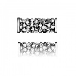 SWAROVSKI 5950 Fine Rocks Tube 15mm 001LTCH Steel (x1)