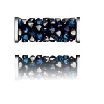 SWAROVSKI 5950 Fine Rocks Tube 15mm 001BBL Steel (x1)