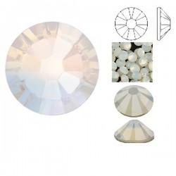 White Opal F ss5 SWAROVSKI 2058 Xilion Rose Flat Back Non-Hotfix (x10)