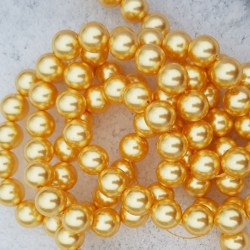 5811 10mm Crystal Gold Pearl (001 296) (x1)
