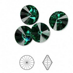 SWAROVSKI Rivoli 12mm Emerald F (x1)