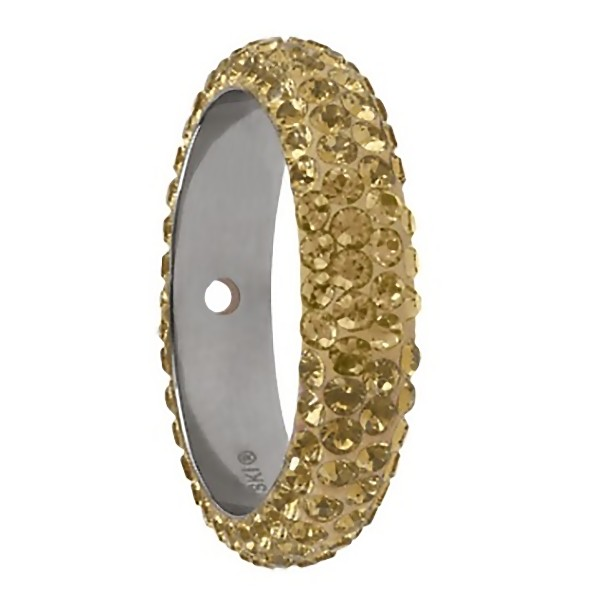 SWAROVSKI Pavé Thread Ring 16.5mm Crystal Golden Shadow/Pearl Silk (x1)