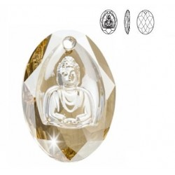 SWAROVSKI 6871 Buddha Pendant Crystal Golden Shadow (x1)