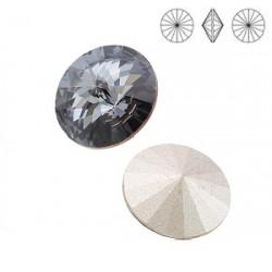 SWAROVSKI Rivoli 12mm Crystal (001) Silvernight (SINI) F (x1)