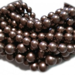 Crystal (001) Velvet Brown Pearl 6mm (951) (x10)