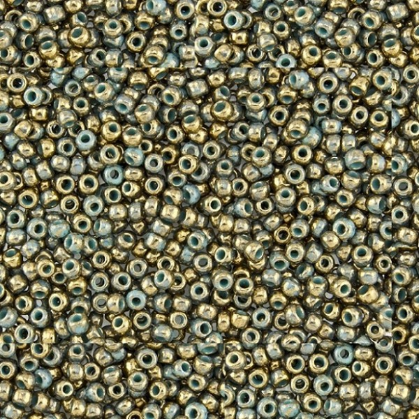 11/0 Toho Gilded Marble Turquoise TR-11-1703 10g