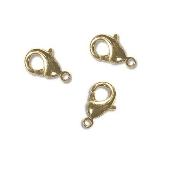 12mm Lobster claw gold plated made in Korea (x1)