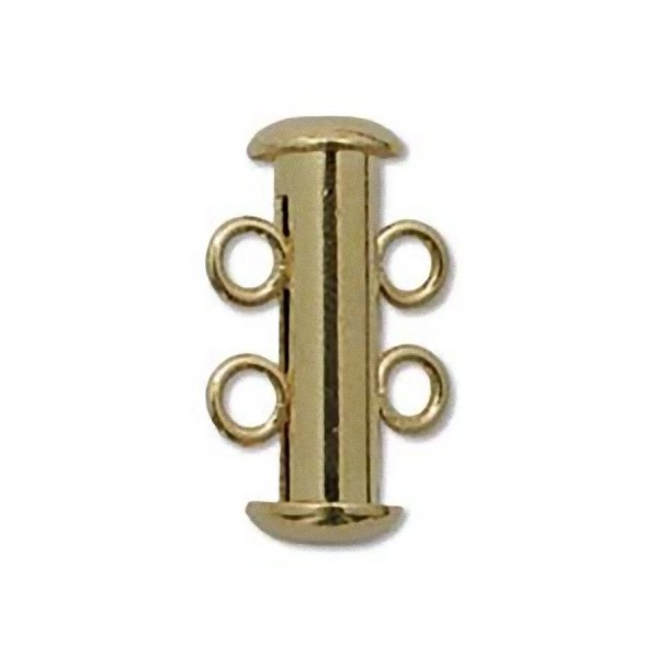 2-strand clasp 16mm, gold plated (x1)
