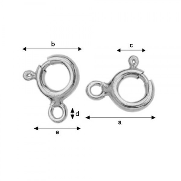 7mm Sterling silver spring ring clasp (x1)