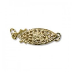 14K gold filled Eye Shape Clasp (x1)
