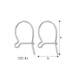 Sterling silver (925) ear wire (x2)