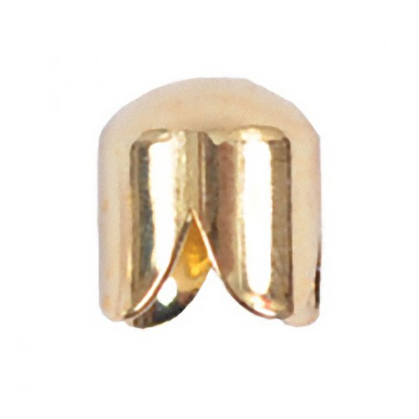 Scalloped cup gold plated metal 7x6mm (x1)