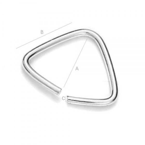 12mm Bail, Sterling silver AG-925 (x1)
