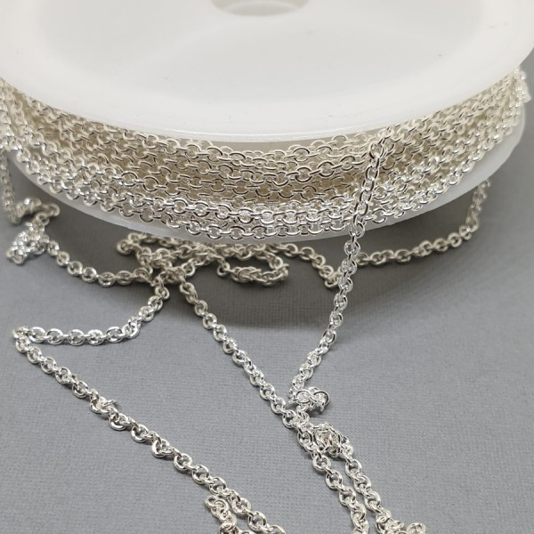 2.5x2mm Silver Color Metal Chain (x10cm)