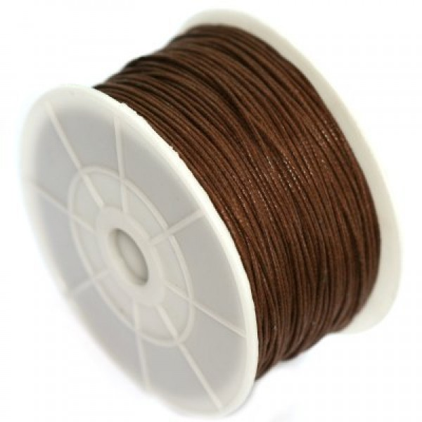0.5mm Wax cotton cord - Brown (m)