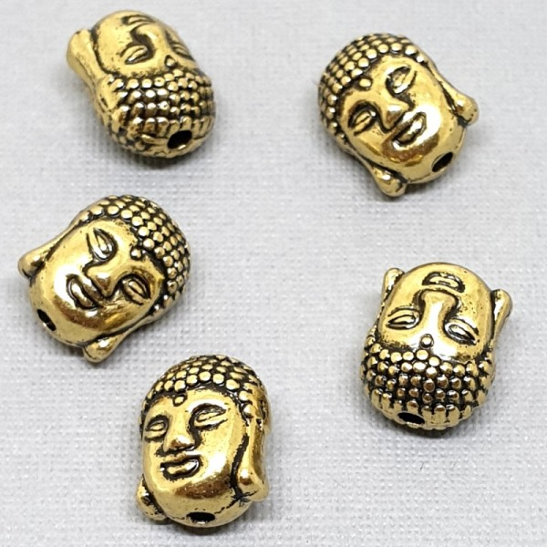 11mm Decorative spacer bead Buddha antique gold color (x1)
