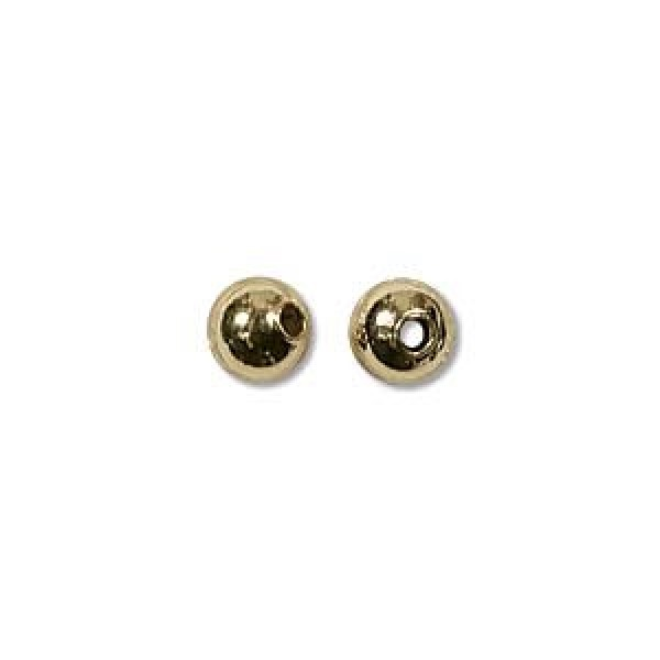 4mm Gold plated (x10)