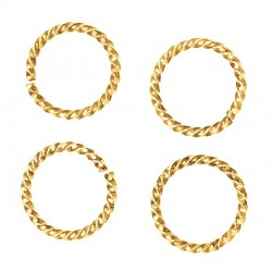 8mm Twisted jump ring gold plate (x1)