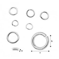 4mm Ring, Rhodium plated AG925 (x1)