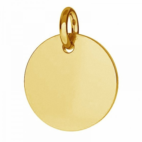 Pendant disk for engraving 24K Gold plated over silver AG925 (x1)