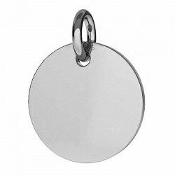 Pendant disk for engraving Sterling silver AG925 (x1)