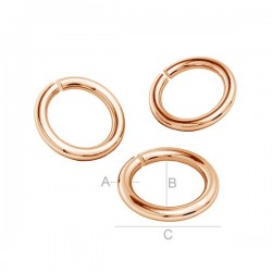 18K Rose gold plated 5mm Open Jumpring, sterling silver (x1)