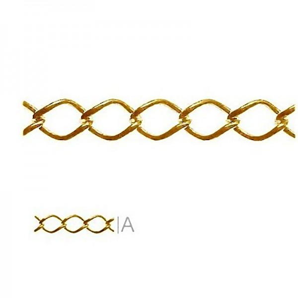 24K gold plated 5cm Extension chain, Sterling silver (x1)