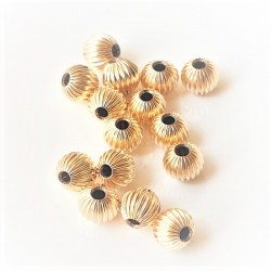 5mm Round decorative bead 14K GF (x1)