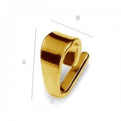 24K gold plated 8mm Link loop Sterling silver (x1)