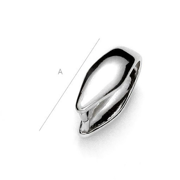Pendant clasp for pendants, Sterling Silver AG-925 (x1)