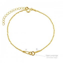 Fine Bracelet kit, 24K gold plated.925 silver (x1)