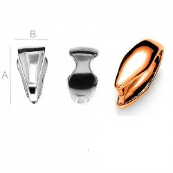 18K rose gold Pendant clasp, Sterling Silver AG-925 (x1)