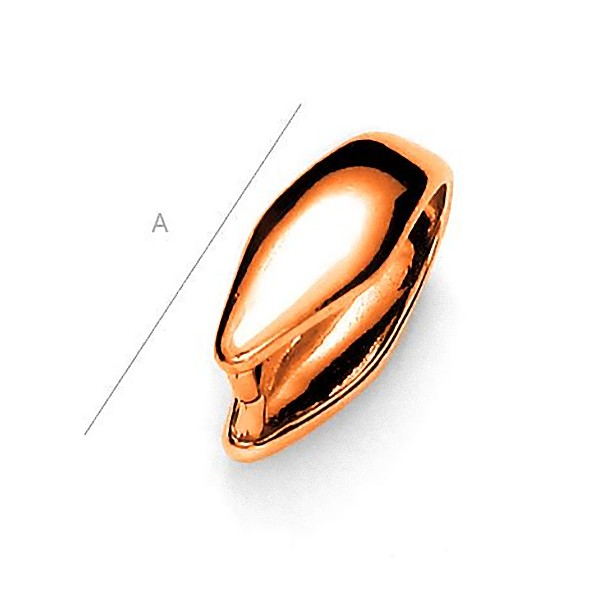 18K rose gold Pendant clasp for pendants, Sterling Silver AG-925 (x1)