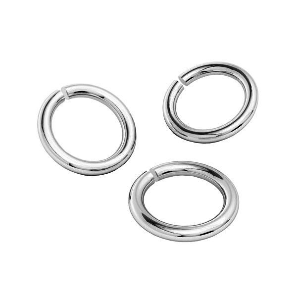 Platinum plated 6mm Open Jumpring, sterling silver AG925 (x1)