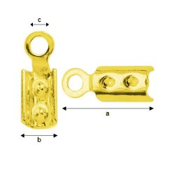 24K gold Connector with prong Sterling Silver AG-925 (x1)