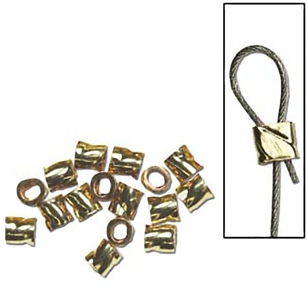 Twisted crimp bead 2x2mm 14K GF (x1)
