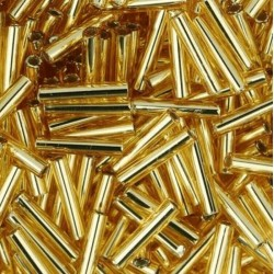 Silver-Lined Medium Topaz 9mm 20g