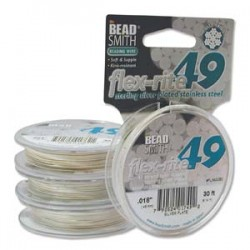Sterling silver plated 49 str. Flex-rite micro wire s.014 (1FT)