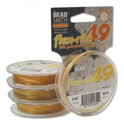 24K gold plated 49 str. Flex-rite micro wire s.014 (1FT)