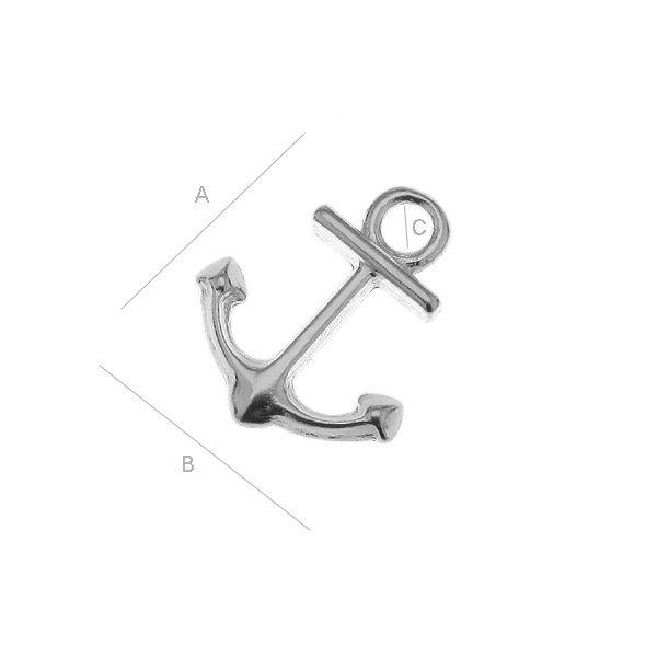 """Charm """"Anchor"""" - silver AG925 (x1)"""